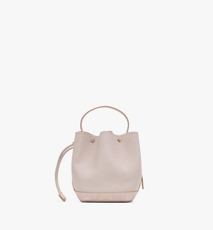 MCM Milano Drawstring Bag in Goatskin Leather Beige MWDASDA03IH001 Alternate View 3