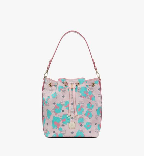 Essential Drawstring Bag in Floral Leopard
