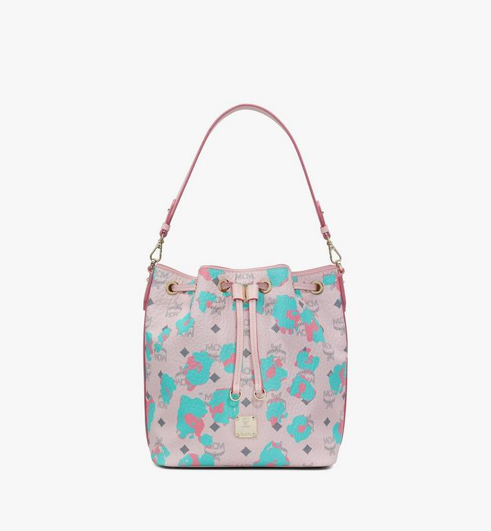 MCM Essential Drawstring Bag in Floral Leopard Alternate View