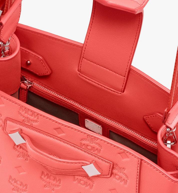 MCM Essential Beuteltasche aus Leder mit Monogramm Pink MWDASSE04O3001 Alternate View 4