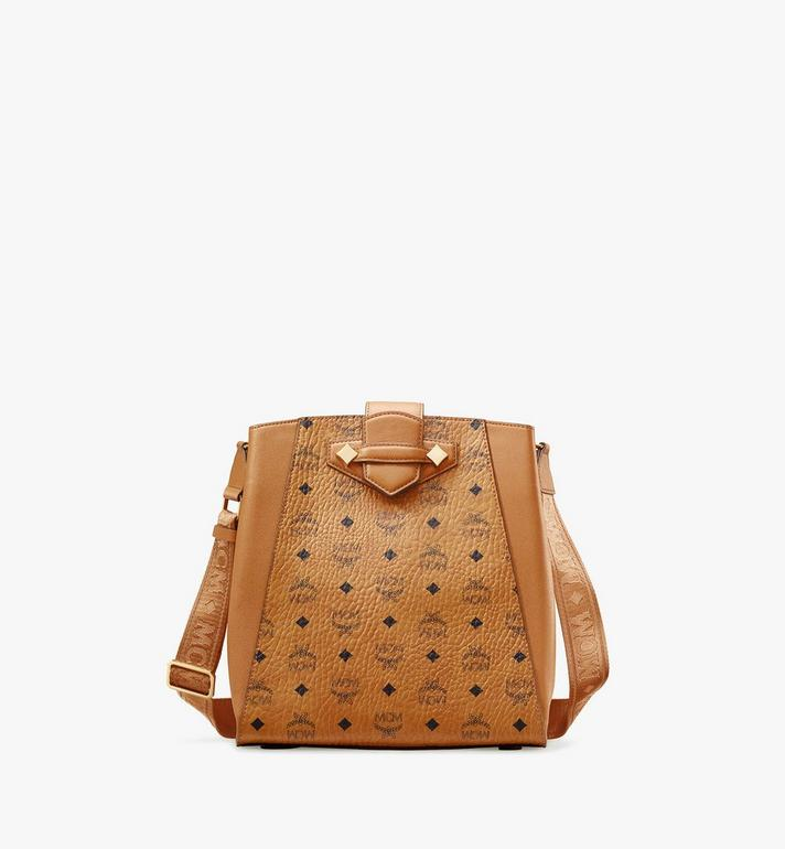 MCM Visetos Original 系列 Essential 水桶包 Cognac MWDASSE05CO001 Alternate View 1