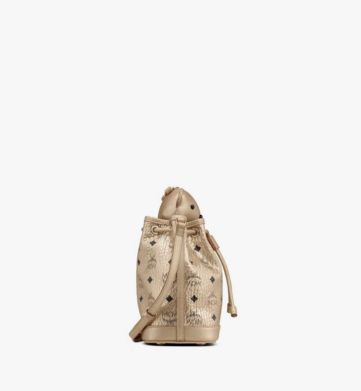 MCM MCM Zoo Bear Drawstring Bag in Visetos Gold MWDASXL02T1001 Alternate View 2