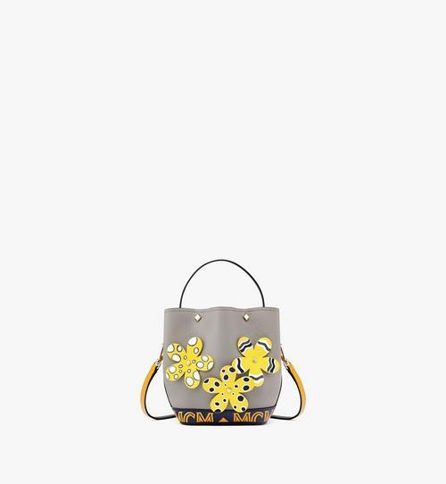 กระเป๋าหูรูด Milano ลายดอกไม้ใน Upcycling Project ทำจากหนัง Park Ave
