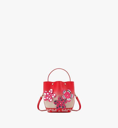 กระเป๋าหูรูด Milano ลายดอกไม้ใน Upcycling Project ทำจากหนังแพะ