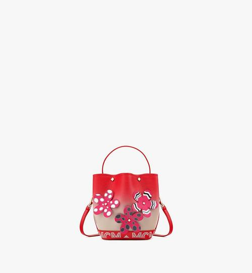 Upcycling Project Flower Milano Drawstring Bag in Goatskin Leather
