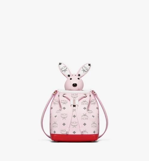 กระเป๋าหูรูด MCM Zoo Rabbit ลาย Visetos หนังผสม