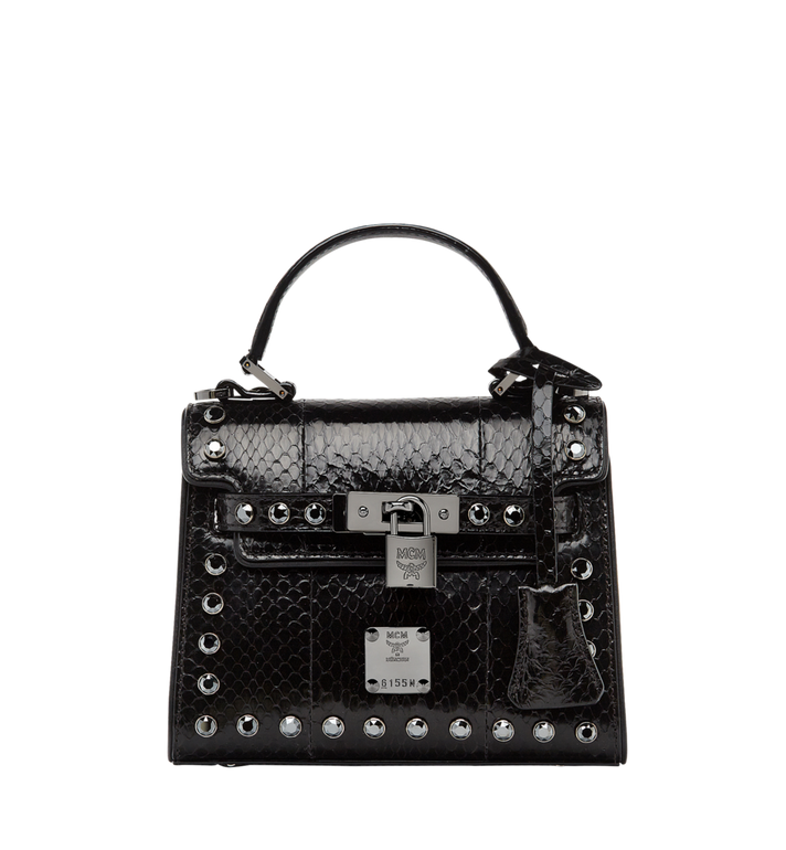 MCM Neo Heritage Satchel in Exotic Crystal Leather Alternate View