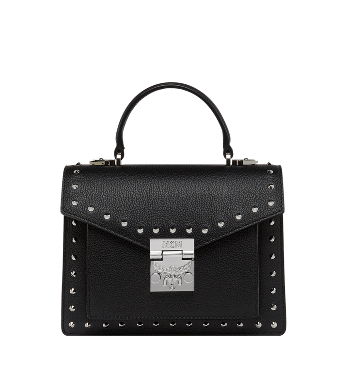 MCM Patricia Satchel in Studded Outline Leather Alternate View