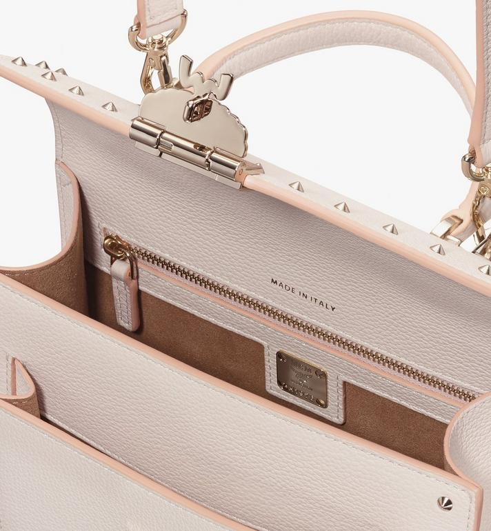 MCM Patricia Satchel in Studded Park Ave Leather Beige MWE8APA51IH001 Alternate View 4