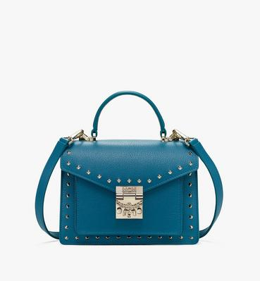 Patricia Satchel in Studded Park Ave Leather