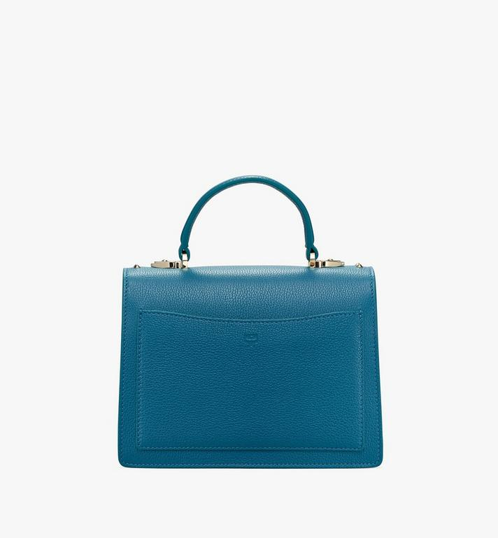MCM Patricia Satchel in Studded Park Ave Leather Blue MWE8APA51JF001 Alternate View 3