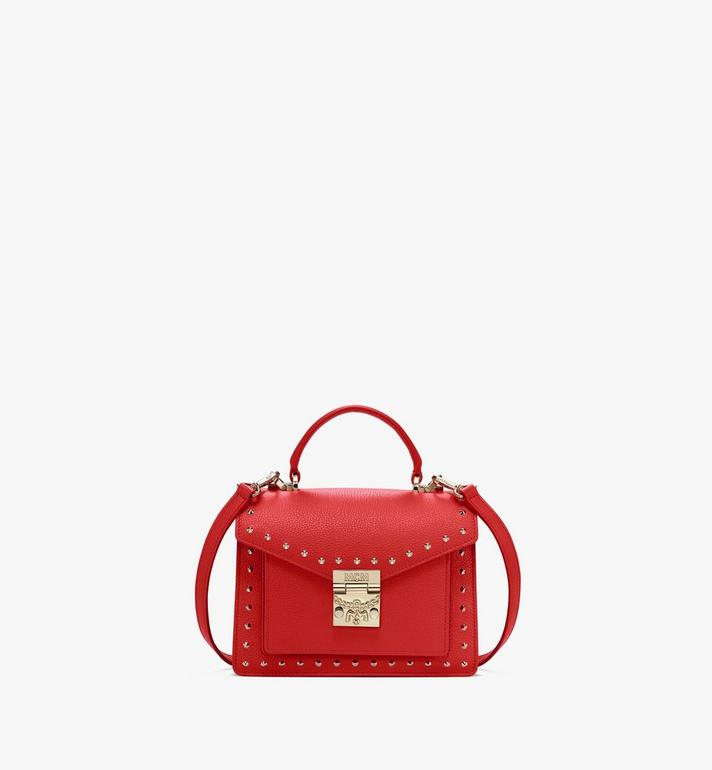 MCM Patricia 鉚釘 Park Ave 皮革劍橋包 Red MWE8APA51R4001 Alternate View 1