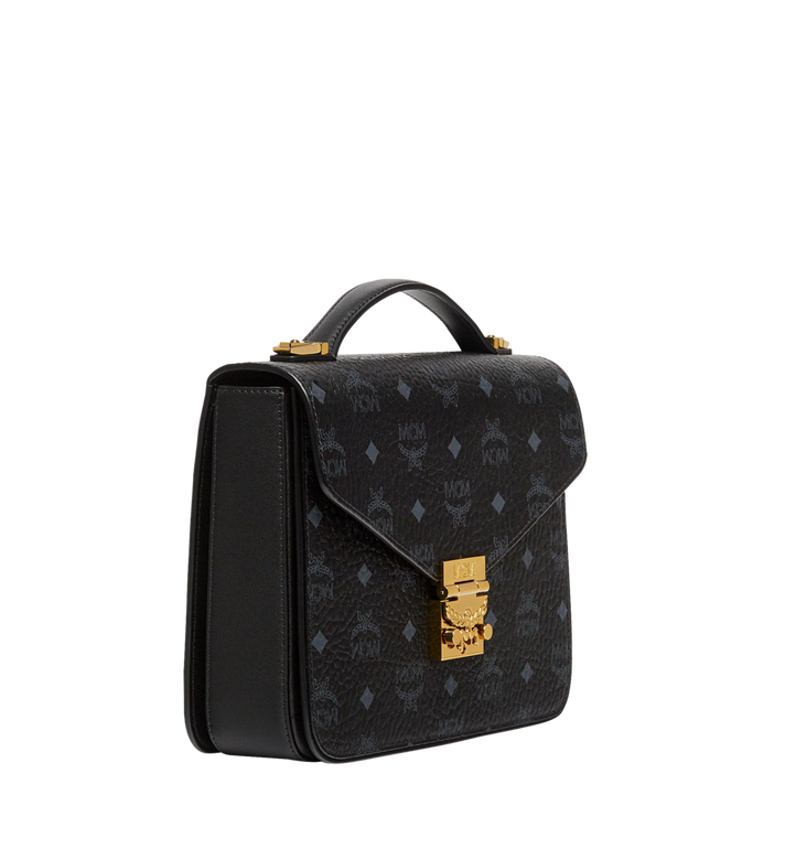 MCM Patricia Satchel in Visetos Black MWE8SPA42BK001 Alternate View 2
