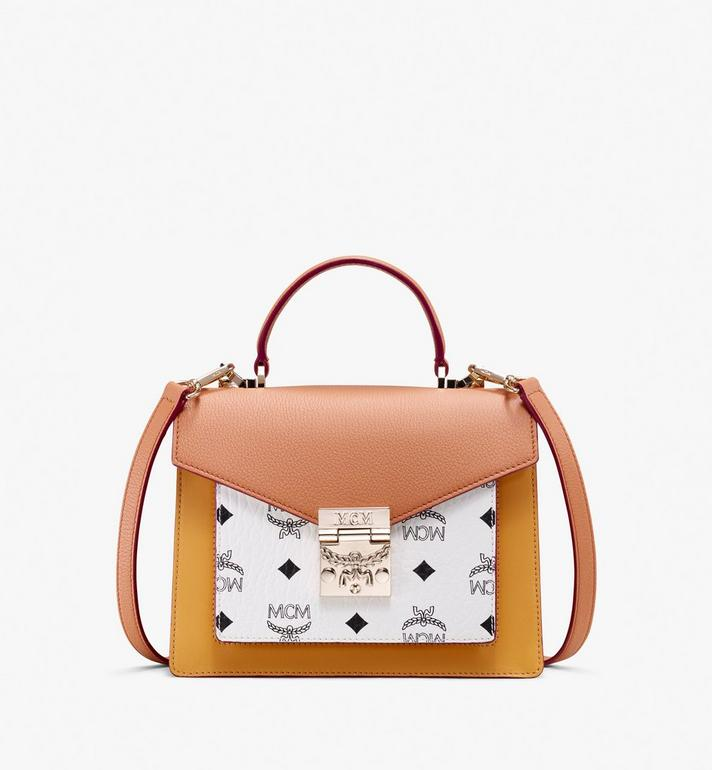 MCM Patricia Satchel in Color Block Leather Alternate View