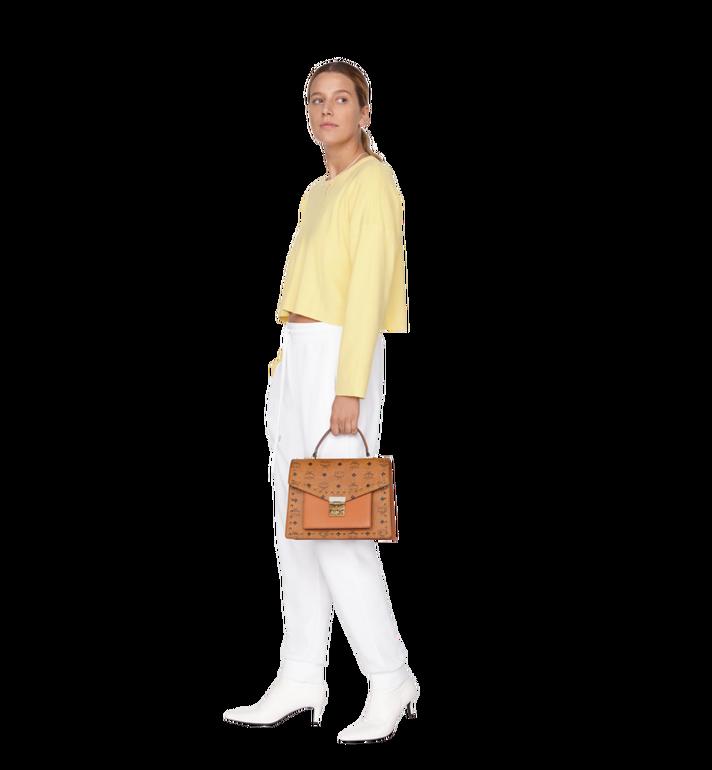 MCM Patricia Satchel in Studded Outline Visetos Cognac MWE9SPA43CO001 Alternate View 7