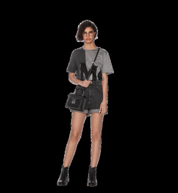 MCM Patricia Satchel in Studded Outline Visetos Black MWE9SPA44BK001 Alternate View 6