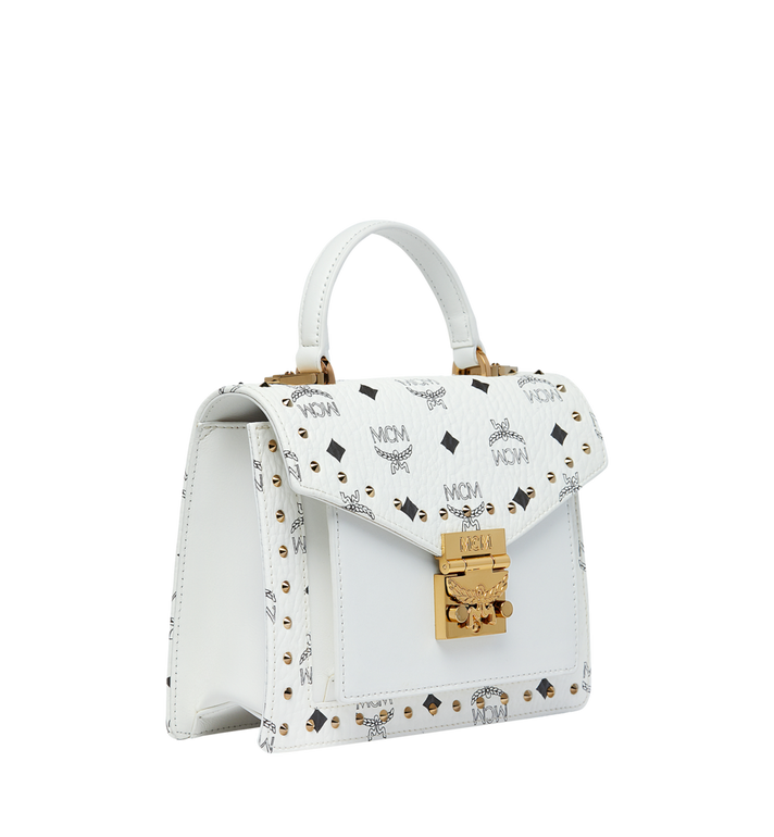 MCM Patricia Satchel in Studded Outline Visetos Alternate View 2