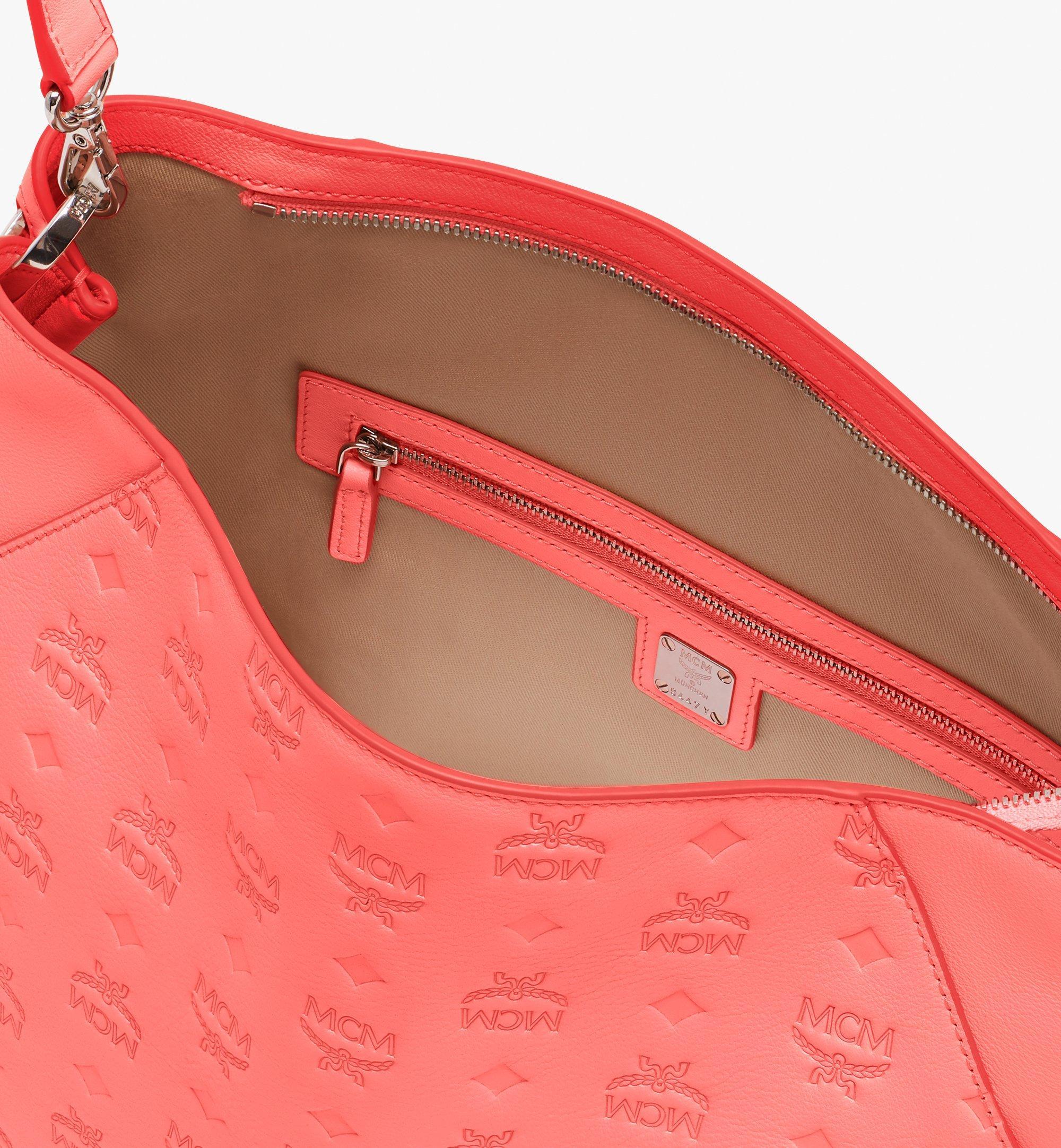 MCM Klara Hobo in Monogram Leather Pink MWH9SKM76O3001 Alternate View 5
