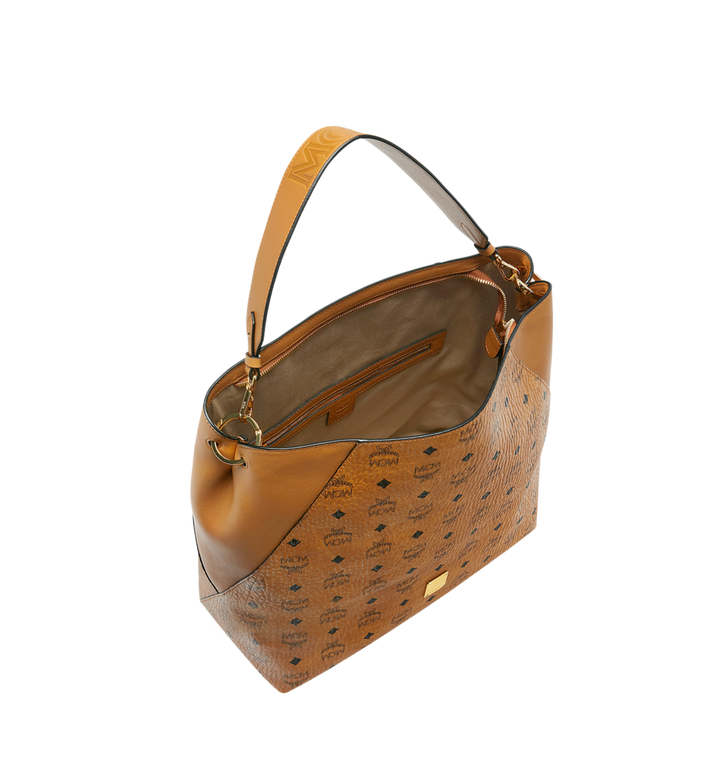 MCM Klara Hobo in Visetos Cognac MWH9SKM85CO001 Alternate View 5