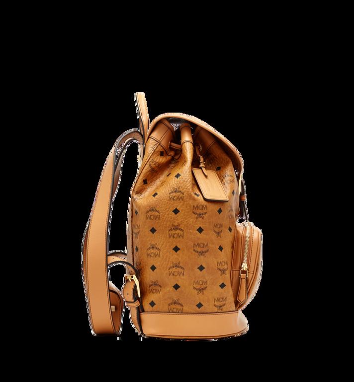 MCM Heritage Single Pocket Rucksack in Visetos Cognac MWK6AVI44CO001 Alternate View 4