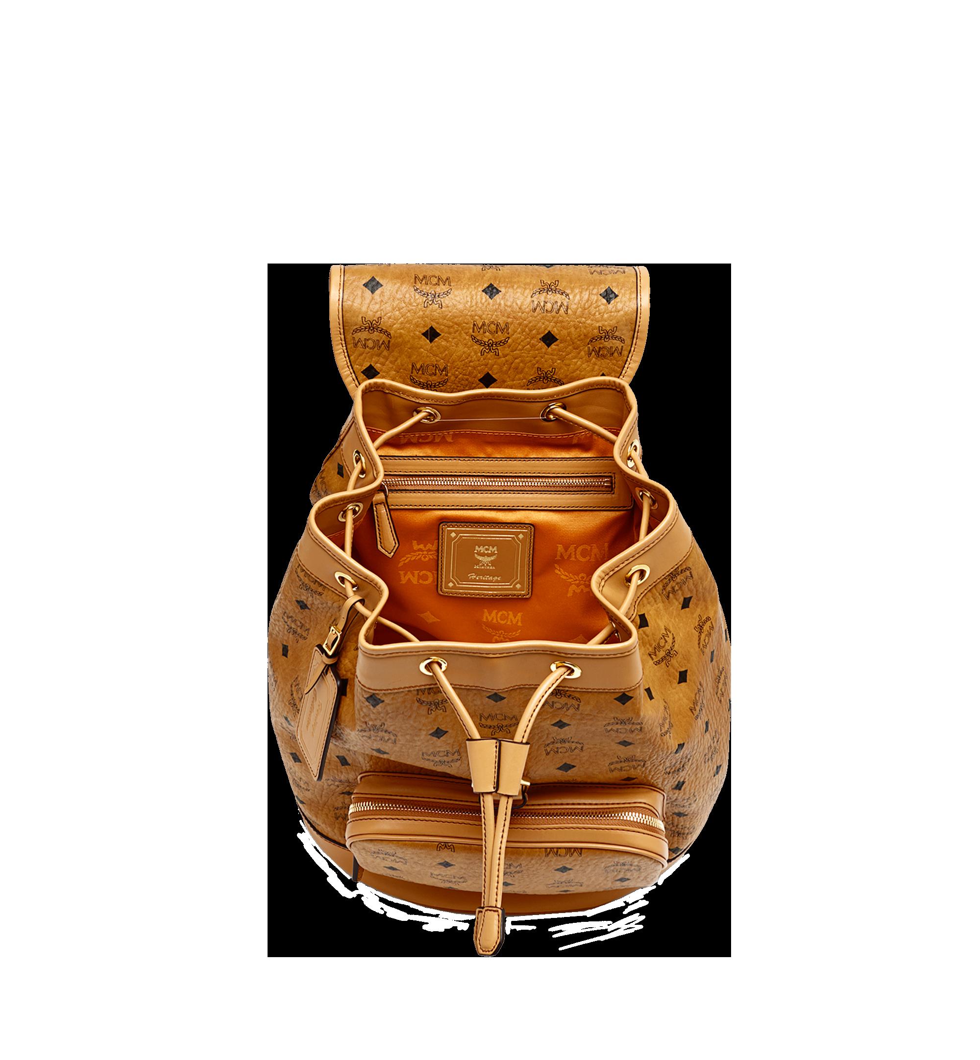MCM Heritage Single Pocket Rucksack in Visetos Cognac MWK6AVI44CO001 Alternate View 5