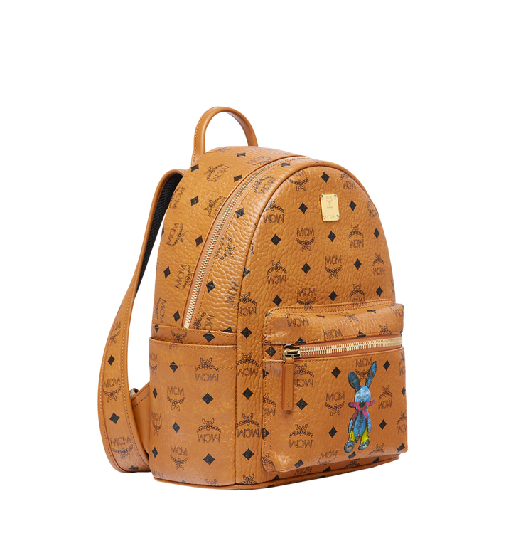 MCM Stark Classic Rabbit Backpack in Visetos Cognac MWK6AXL06CO001 Alternate View 2