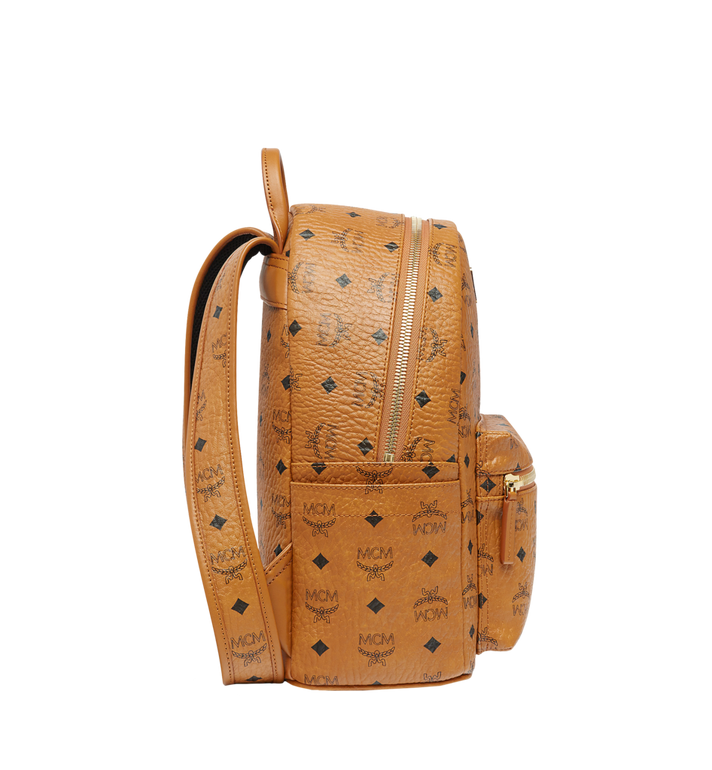 MCM Stark Classic Rabbit Backpack in Visetos Cognac MWK6AXL06CO001 Alternate View 3