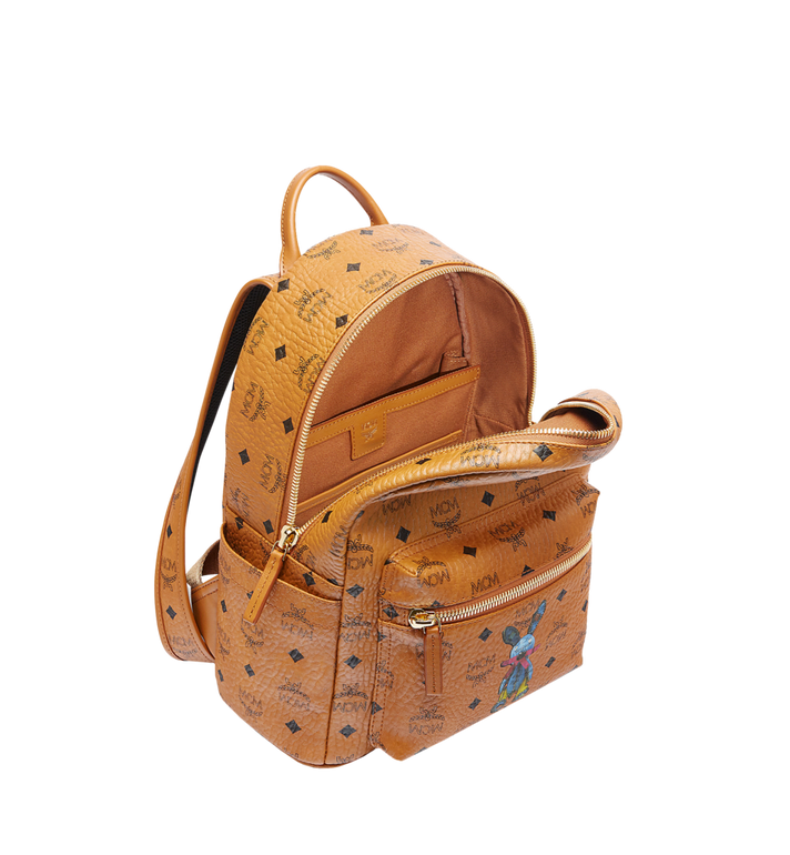 MCM Stark Classic Rabbit Backpack in Visetos Cognac MWK6AXL06CO001 Alternate View 5