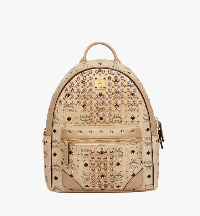 Stark Diamond Swarovski Backpack in Visetos