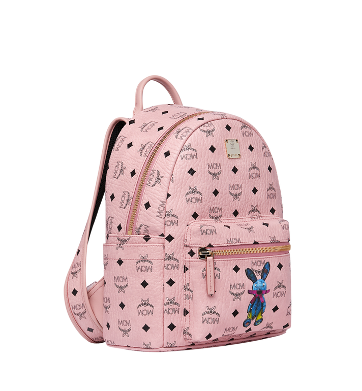 MCM Stark Classic Rabbit Backpack in Visetos Pink MWK7SXL06PZ001 Alternate View 2