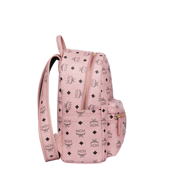 MCM Stark Classic Rabbit Backpack in Visetos Pink MWK7SXL06PZ001 Alternate View 3