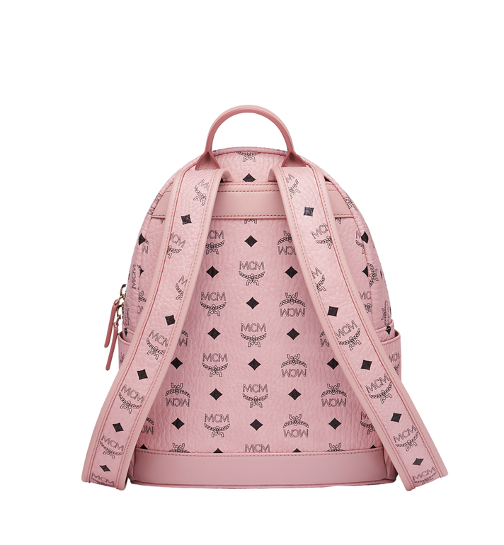 MCM Stark Classic Rabbit Backpack in Visetos Pink MWK7SXL06PZ001 Alternate View 4