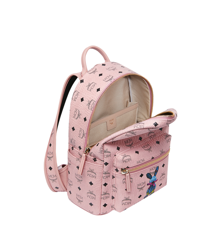 MCM Stark Classic Rabbit Backpack in Visetos Pink MWK7SXL06PZ001 Alternate View 5