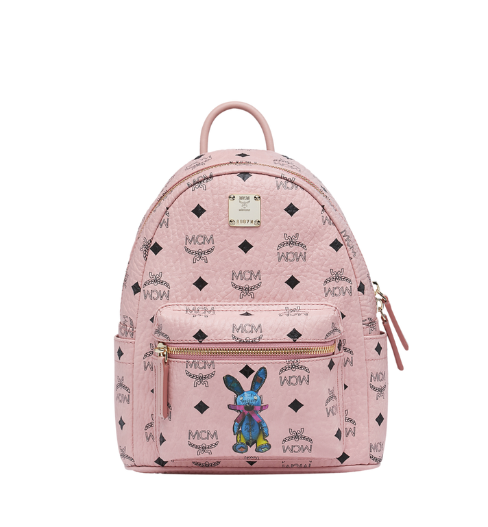 MCM Stark Classic Rabbit Backpack in Visetos Alternate View