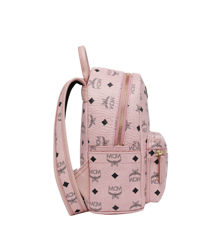 MCM Stark Classic Rabbit Backpack in Visetos Pink MWK7SXL07PZ001 Alternate View 3