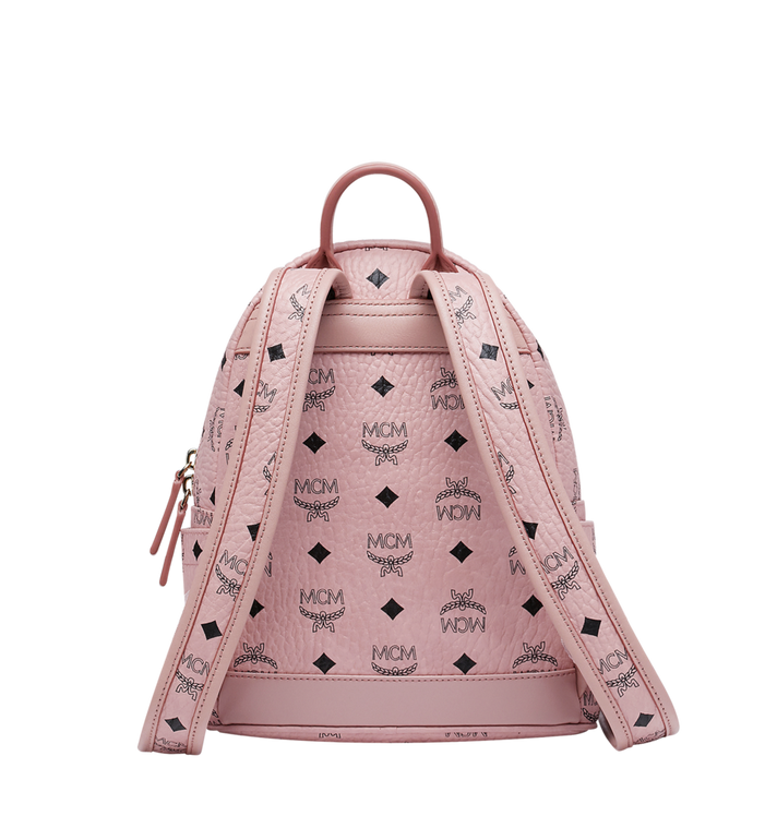 MCM Stark Classic Rabbit Backpack in Visetos Pink MWK7SXL07PZ001 Alternate View 4