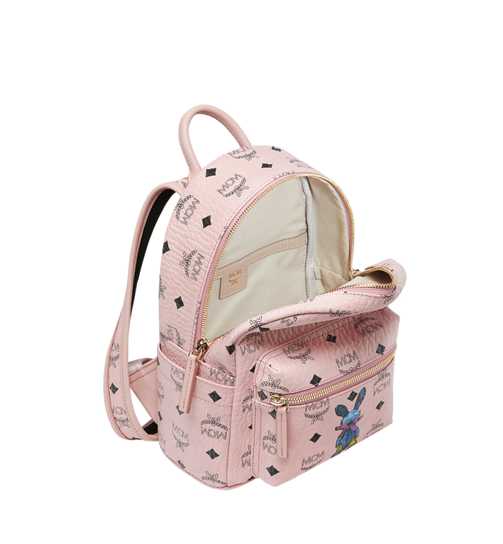 MCM Stark Classic Rabbit Backpack in Visetos Pink MWK7SXL07PZ001 Alternate View 5