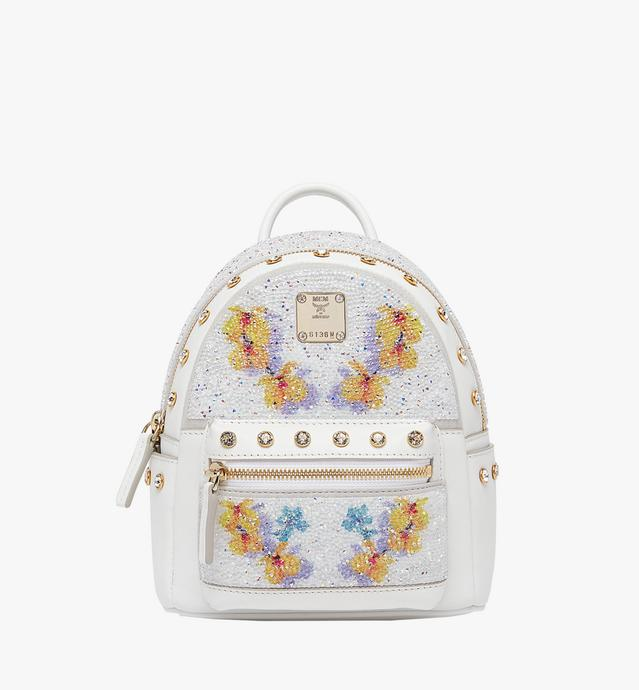 Stark Floral Crystal Backpack in Visetos