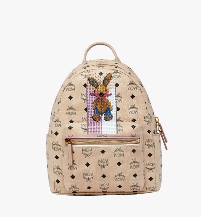 Stark Stripe Rabbit Backpack in Visetos