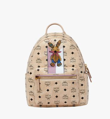 Stark Stripe Rabbit Rucksack in Visetos