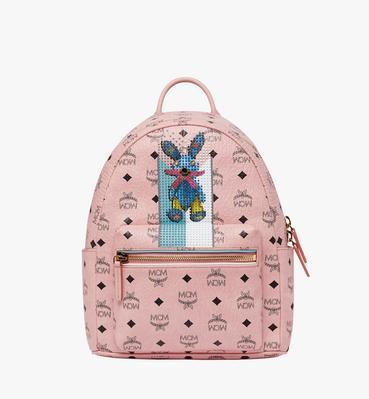 Stark Stripe Rabbit Backpack in Visetos
