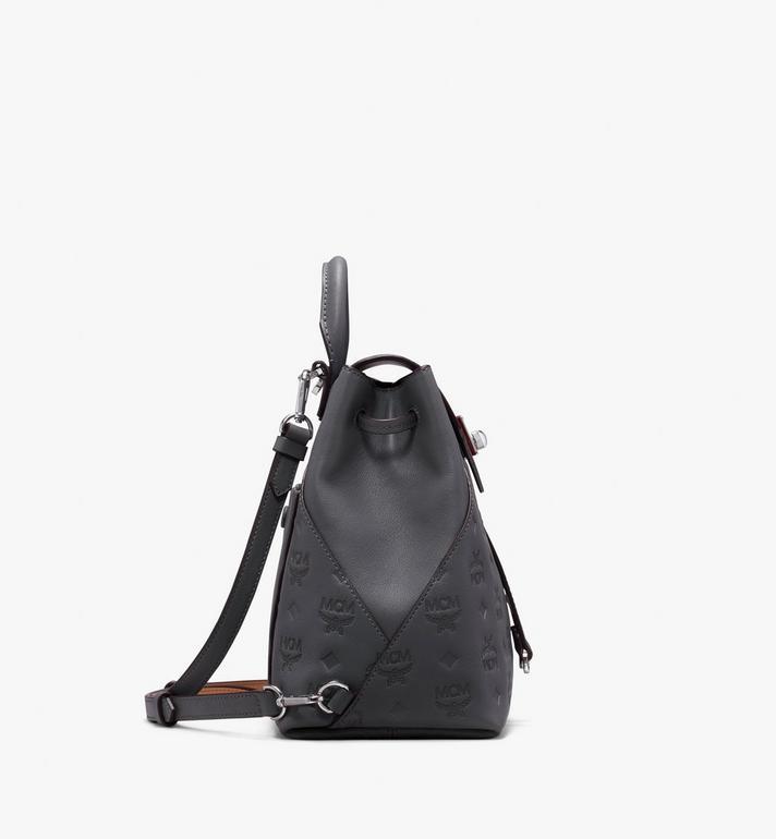 MCM Essential Backpack in Monogram Leather Grey MWK9ASE03EC001 Alternate View 2