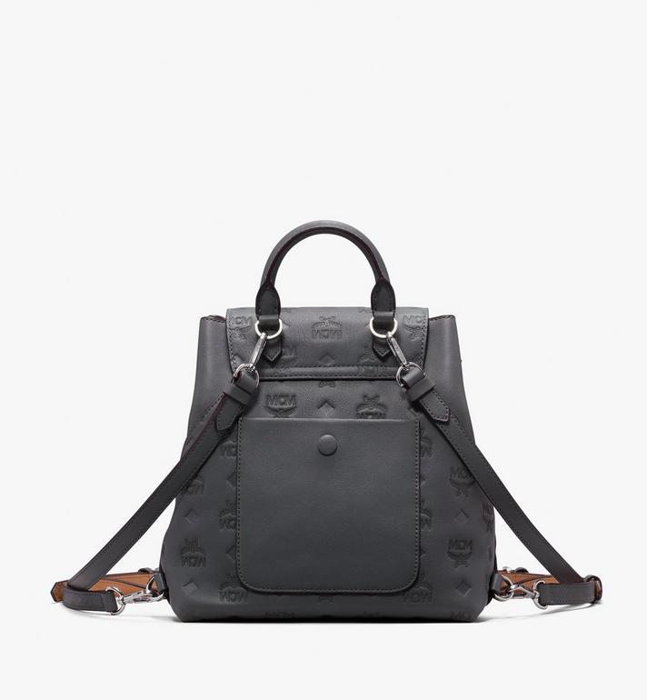 MCM Essential Backpack in Monogram Leather Grey MWK9ASE03EC001 Alternate View 3