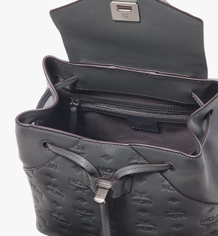 MCM Essential Backpack in Monogram Leather Grey MWK9ASE03EC001 Alternate View 4