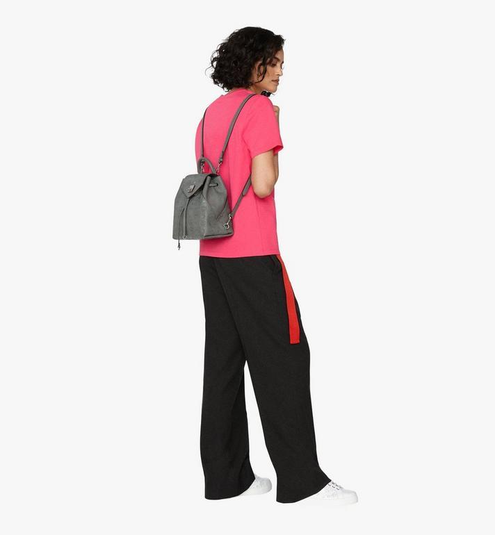 MCM Essential Backpack in Monogram Leather Grey MWK9ASE03EC001 Alternate View 5