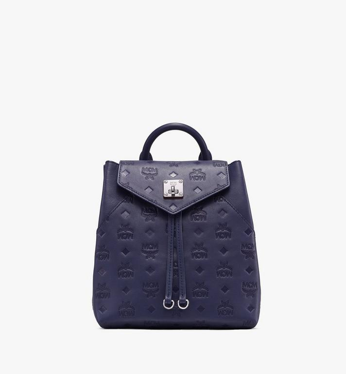 MCM Essential Backpack in Monogram Leather Alternate View
