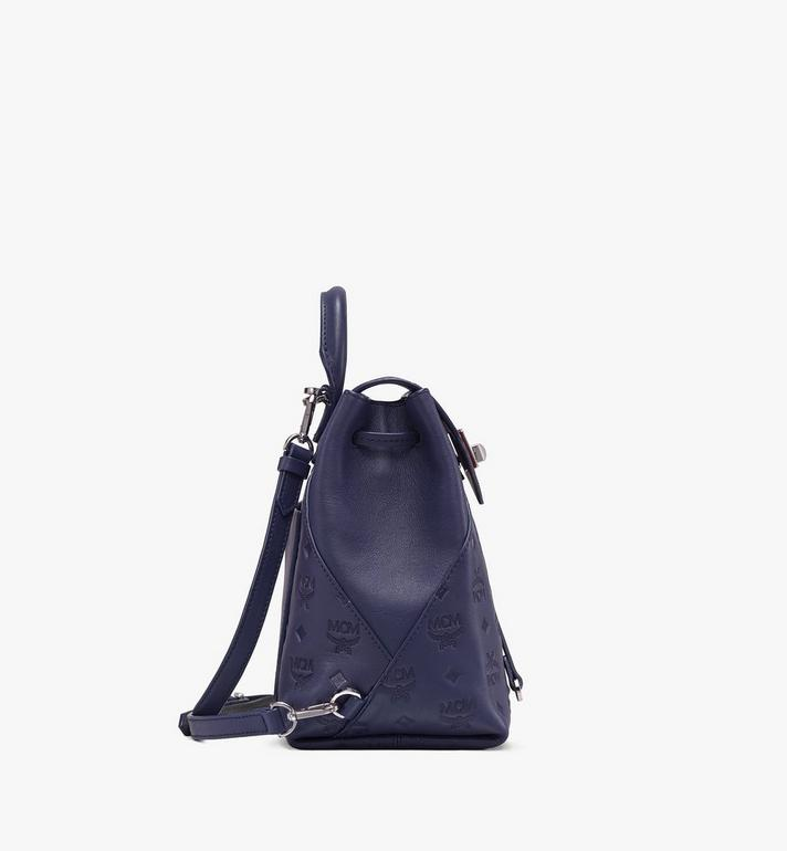 MCM Essential Backpack in Monogram Leather Navy MWK9ASE03VA001 Alternate View 2