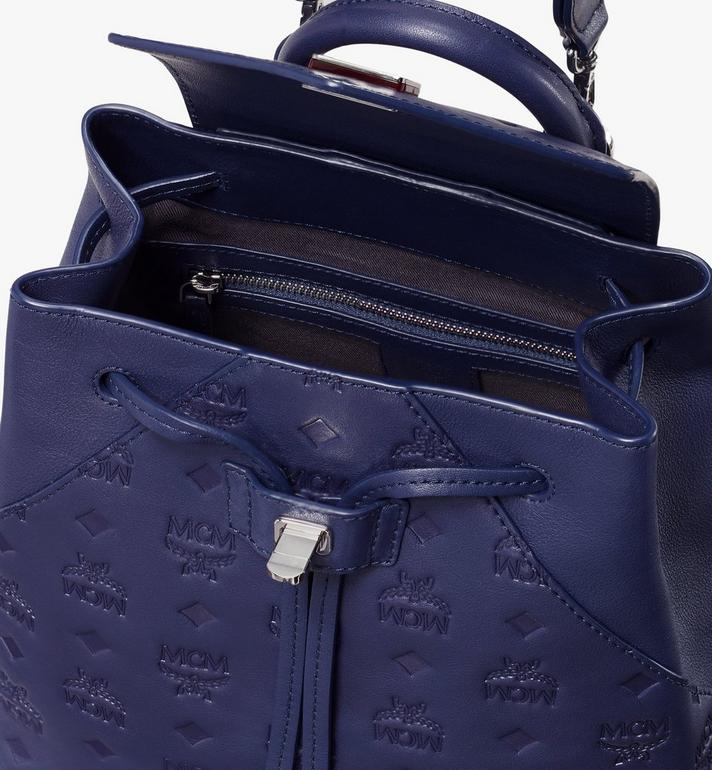 MCM Essential Backpack in Monogram Leather Navy MWK9ASE03VA001 Alternate View 4