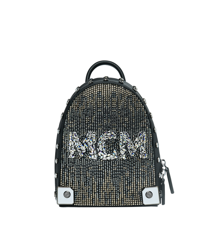 MCM Stark Bebe Boo 馬賽克水晶雙肩背包 Black MWK9SMS01BK001 Alternate View 1