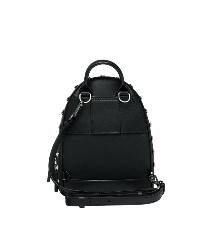 MCM Stark Bebe Boo Backpack in Mosaic Crystal Black MWK9SMS01BK001 Alternate View 6